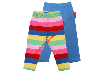Baby Girls Leggings Stripes Plain